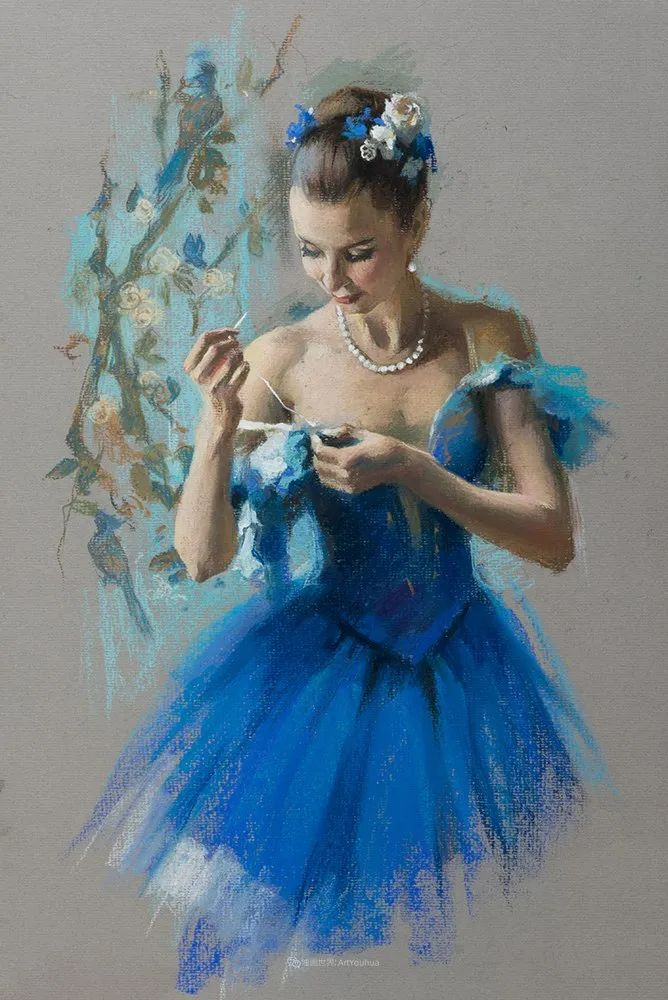 她的色粉芭蕾,舞姿律动,身姿瘦削!插图39