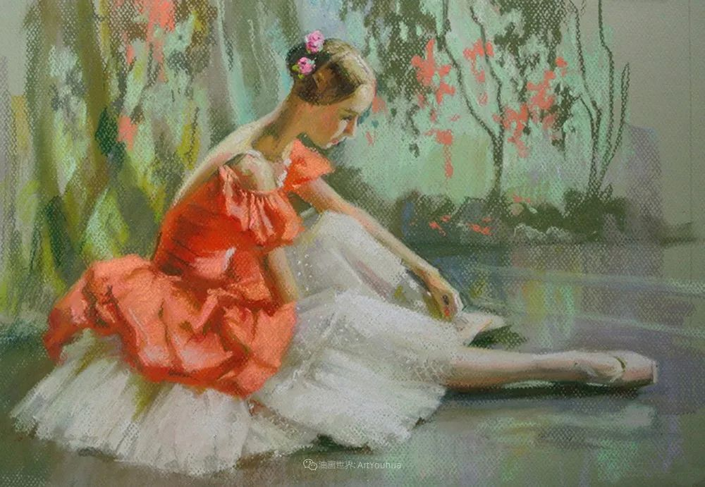 她的色粉芭蕾,舞姿律动,身姿瘦削!插图43