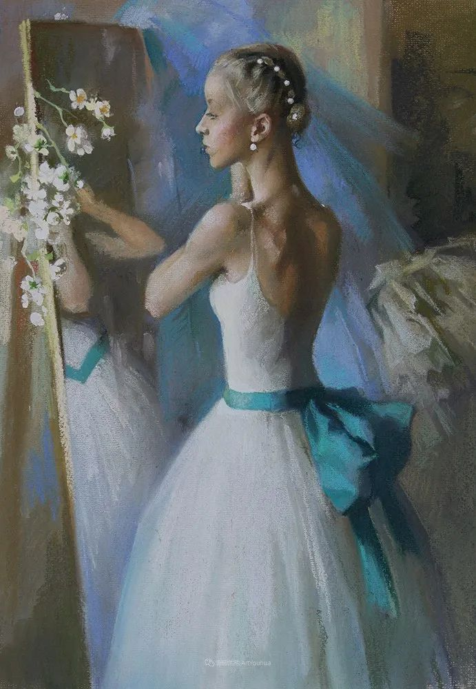 她的色粉芭蕾,舞姿律动,身姿瘦削!插图95
