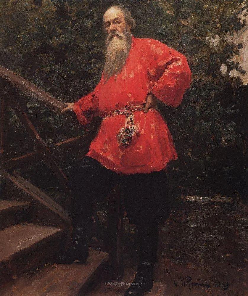 列宾 | 男性肖像作品精选 170幅插图133
