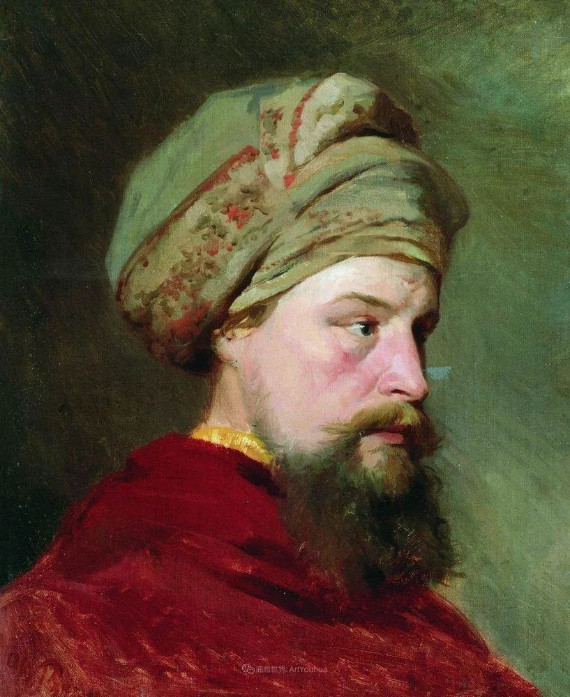 列宾 | 男性肖像作品精选 170幅插图269