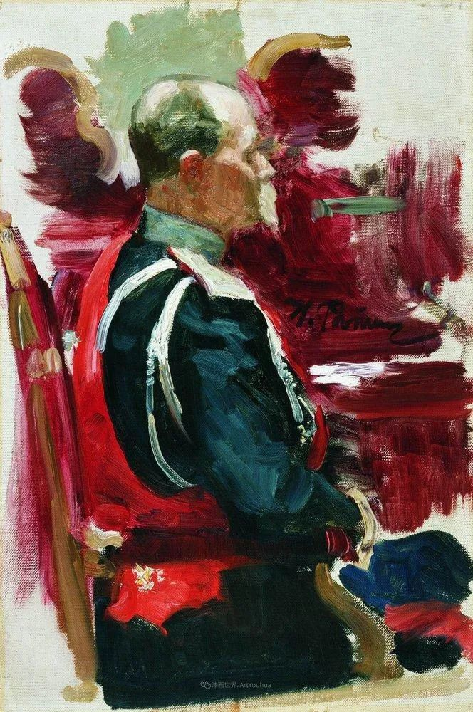 列宾 | 男性肖像作品精选 170幅插图333