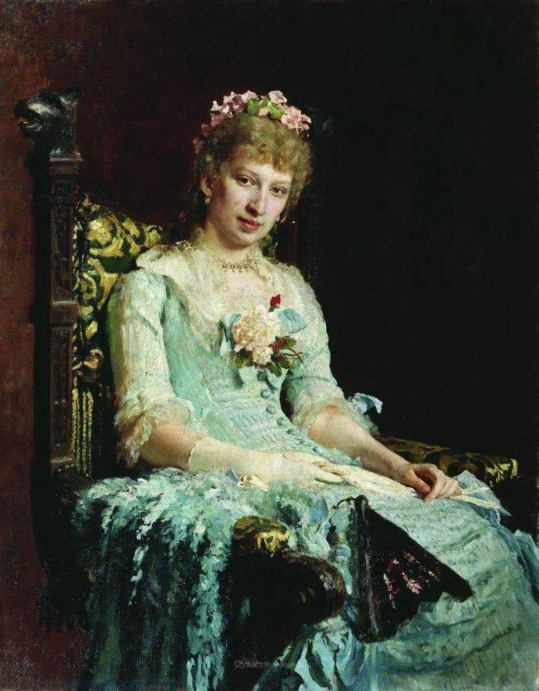 列宾 | 女性肖像作品精选 82幅插图65