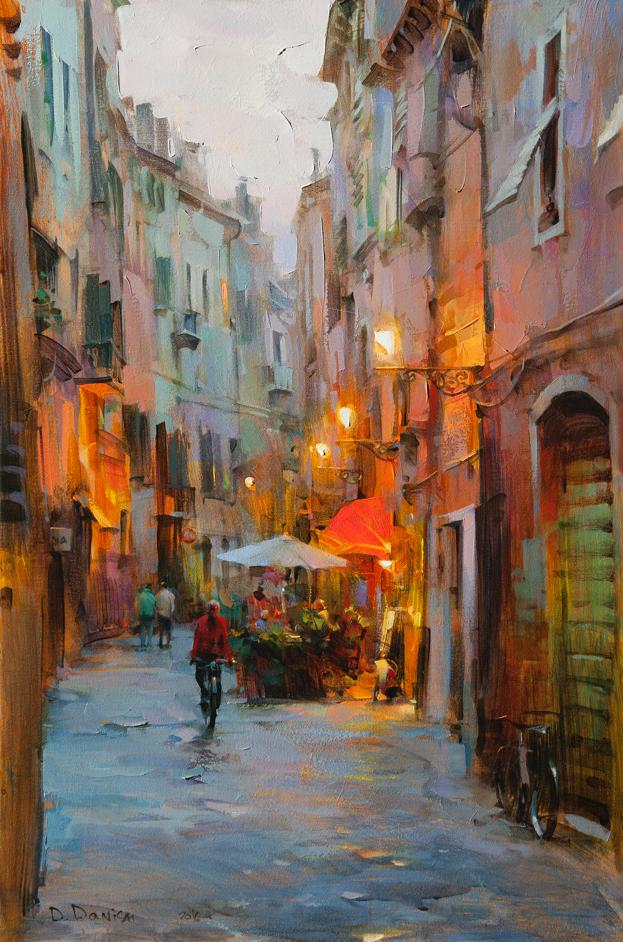 他把他的城市,画得如此温暖美妙,光色十足!插图1