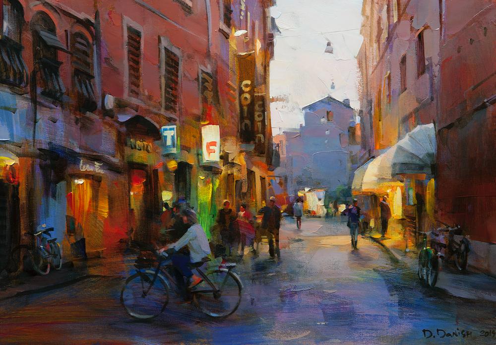 他把他的城市,画得如此温暖美妙,光色十足!插图3