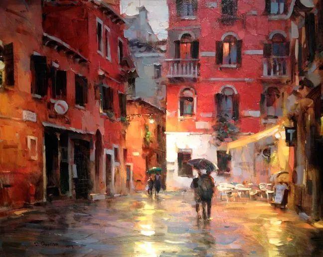 他把他的城市,画得如此温暖美妙,光色十足!插图7