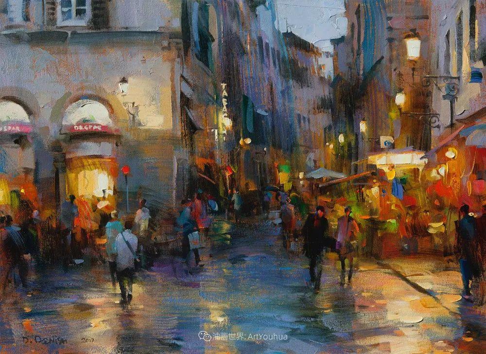 他把他的城市,画得如此温暖美妙,光色十足!插图9