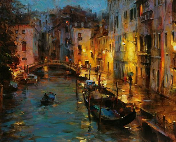 他把他的城市,画得如此温暖美妙,光色十足!插图13