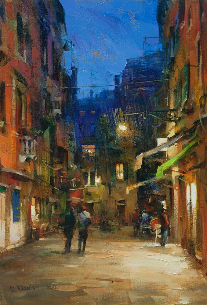 他把他的城市,画得如此温暖美妙,光色十足!插图15