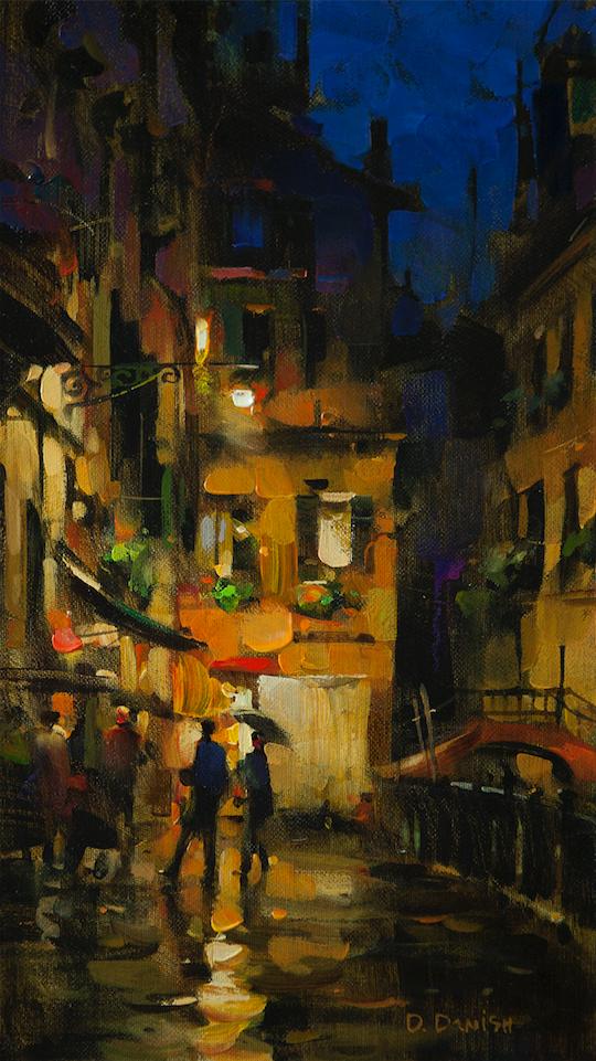 他把他的城市,画得如此温暖美妙,光色十足!插图19