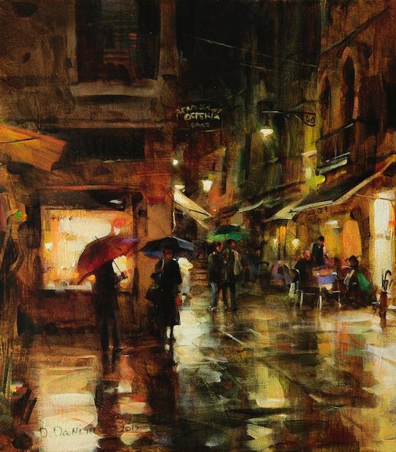 他把他的城市,画得如此温暖美妙,光色十足!插图21