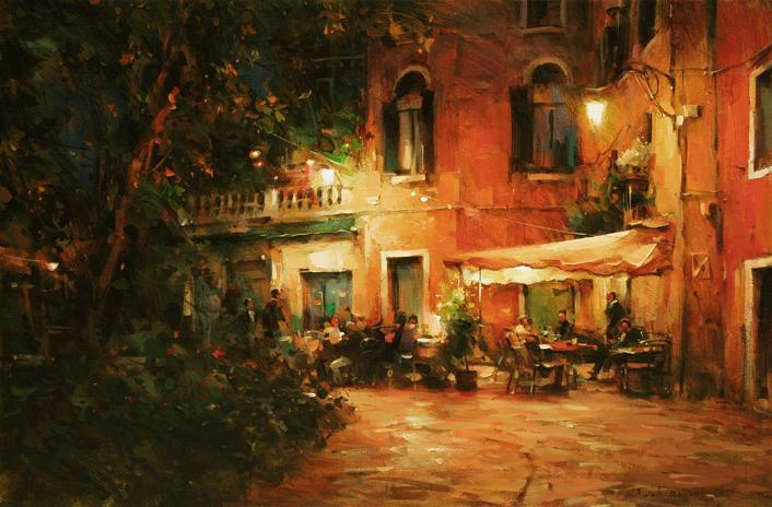 他把他的城市,画得如此温暖美妙,光色十足!插图25