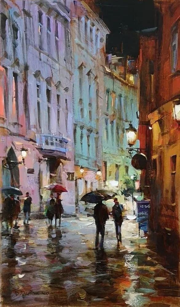 他把他的城市,画得如此温暖美妙,光色十足!插图27