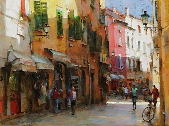 他把他的城市,画得如此温暖美妙,光色十足!插图31