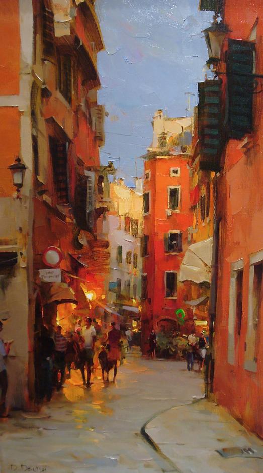 他把他的城市,画得如此温暖美妙,光色十足!插图33