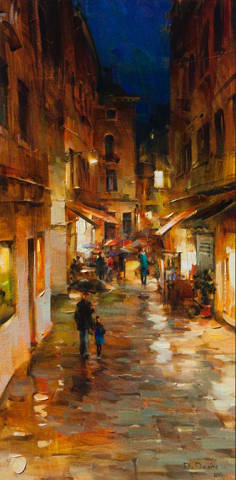 他把他的城市,画得如此温暖美妙,光色十足!插图35