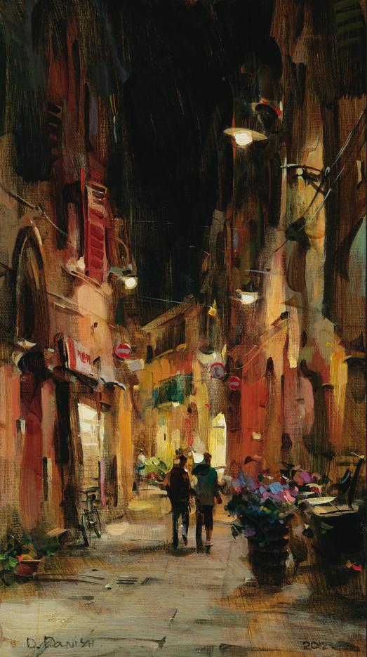 他把他的城市,画得如此温暖美妙,光色十足!插图37