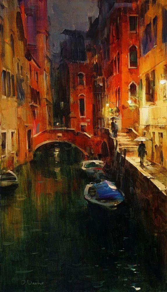 他把他的城市,画得如此温暖美妙,光色十足!插图39