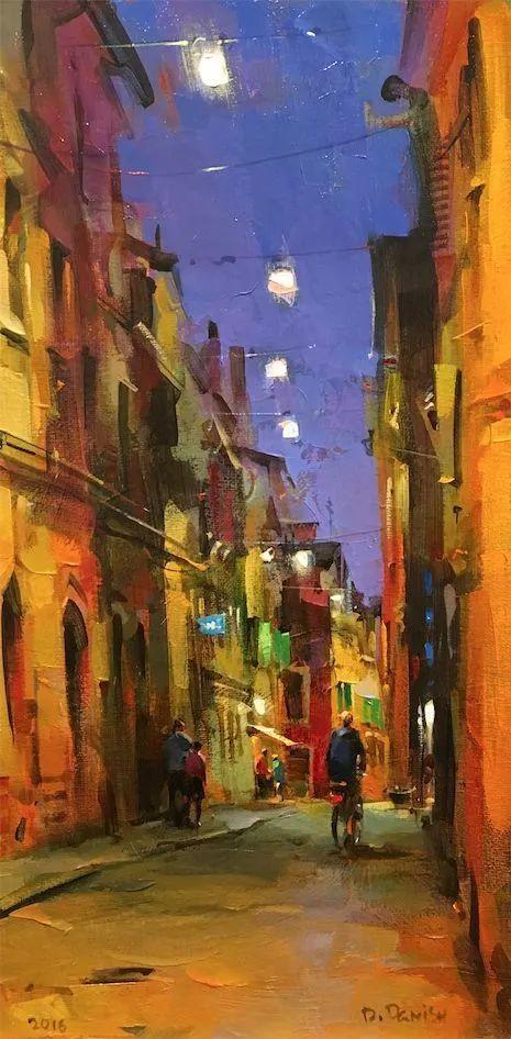 他把他的城市,画得如此温暖美妙,光色十足!插图41