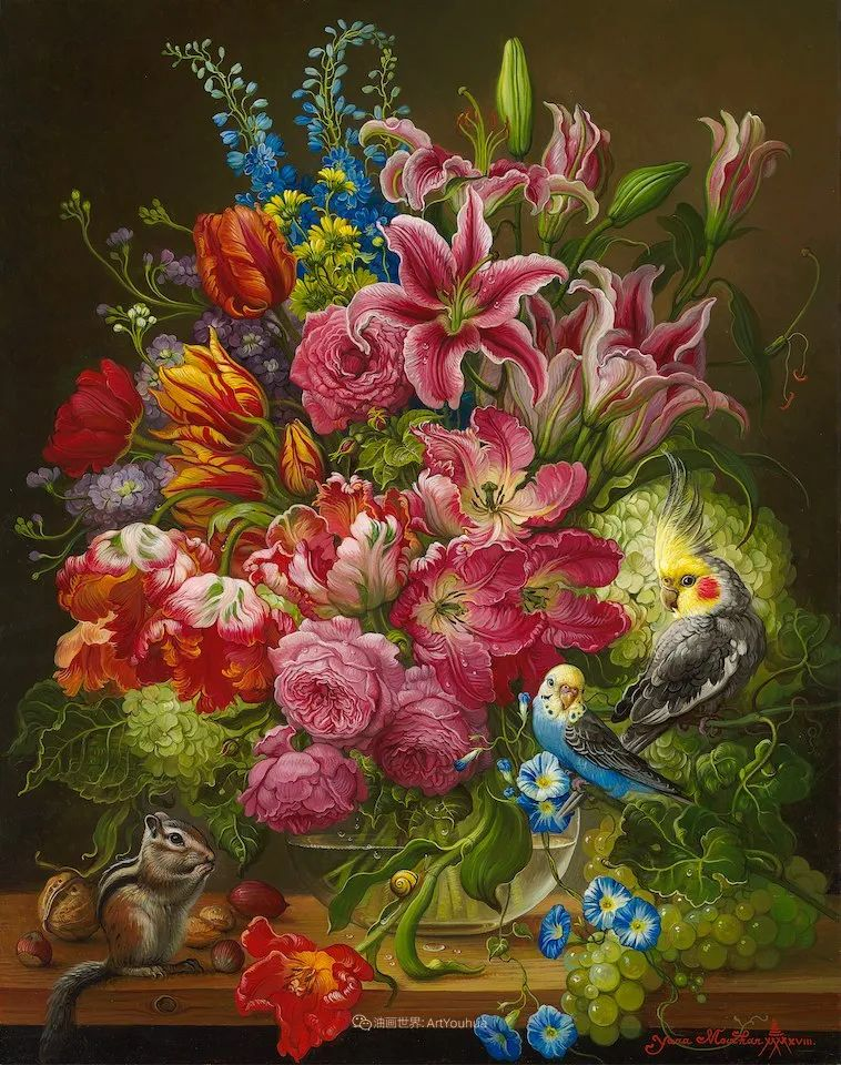 新现实主义风格花鸟画,乌克兰女画家Yana Movchan (上)插图3