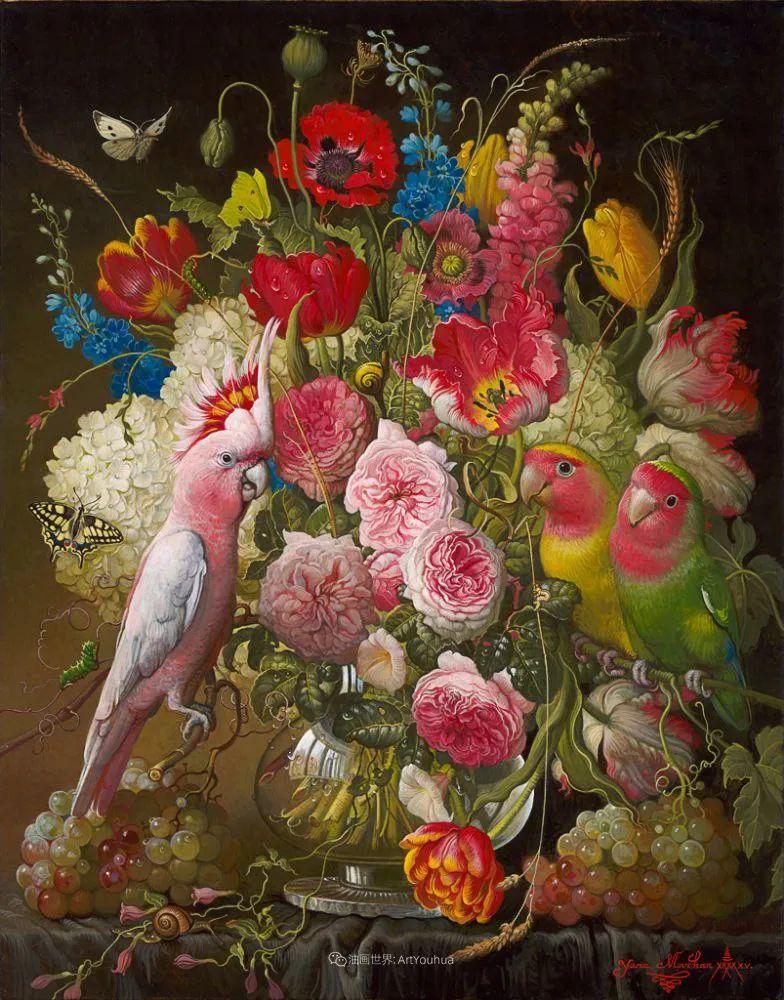 新现实主义风格花鸟画,乌克兰女画家Yana Movchan (上)插图13