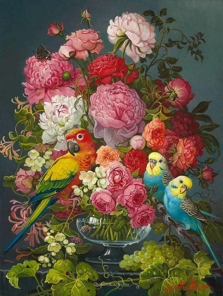 新现实主义风格花鸟画,乌克兰女画家Yana Movchan (上)插图17