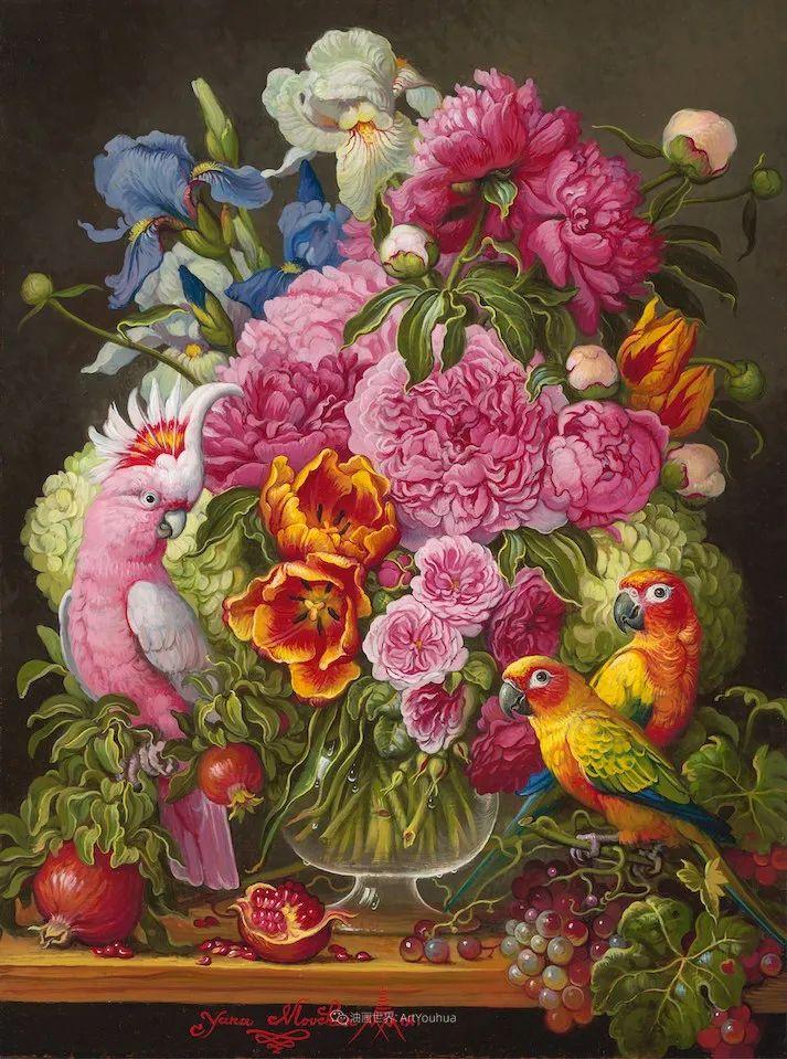 新现实主义风格花鸟画,乌克兰女画家Yana Movchan (上)插图25