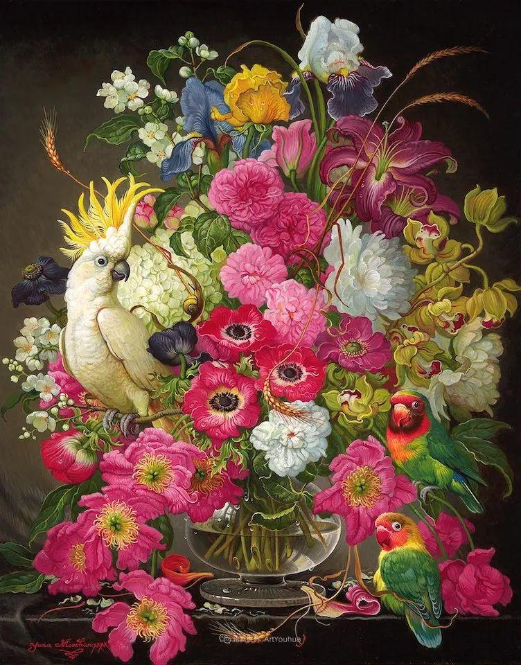 新现实主义风格花鸟画,乌克兰女画家Yana Movchan (上)插图33