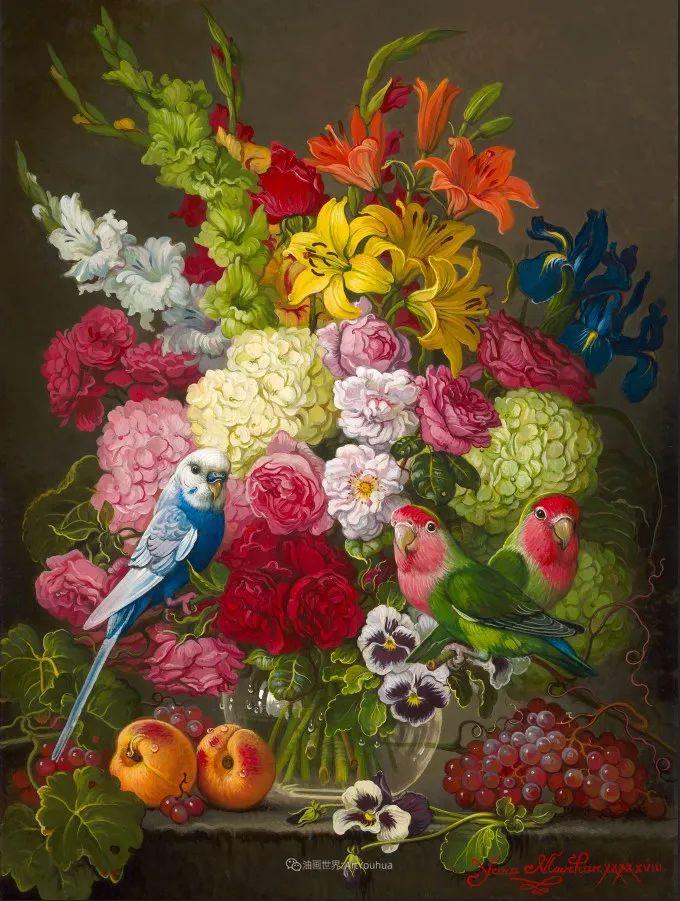 新现实主义风格花鸟画,乌克兰女画家Yana Movchan (上)插图37