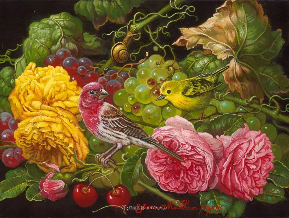 新现实主义风格花鸟画,乌克兰女画家Yana Movchan (上)插图65