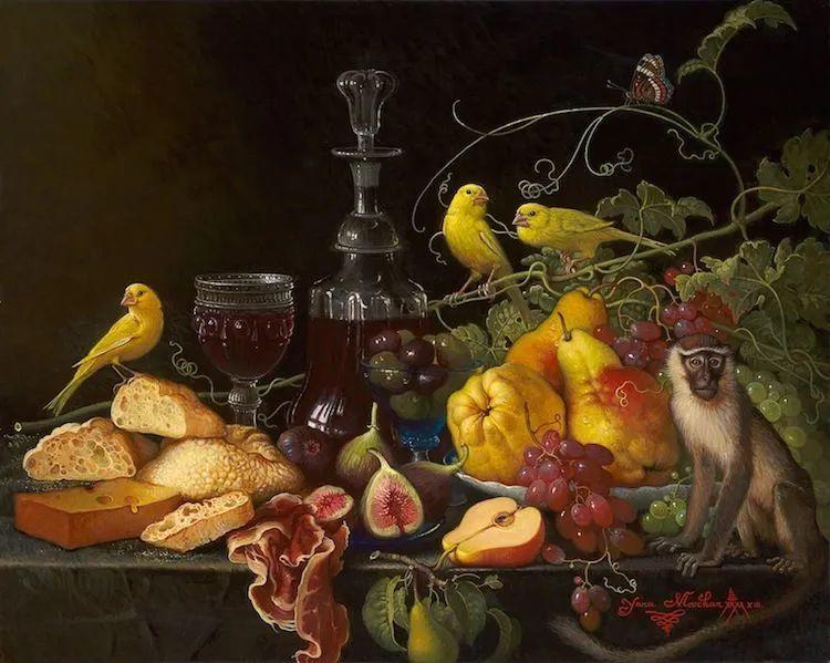 新现实主义风格花鸟画,乌克兰女画家Yana Movchan (上)插图85