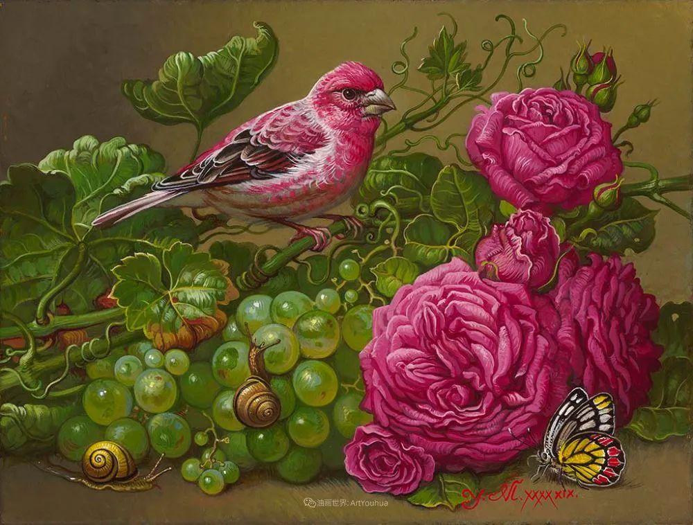 新现实主义风格花鸟画,乌克兰女画家Yana Movchan (上)插图91