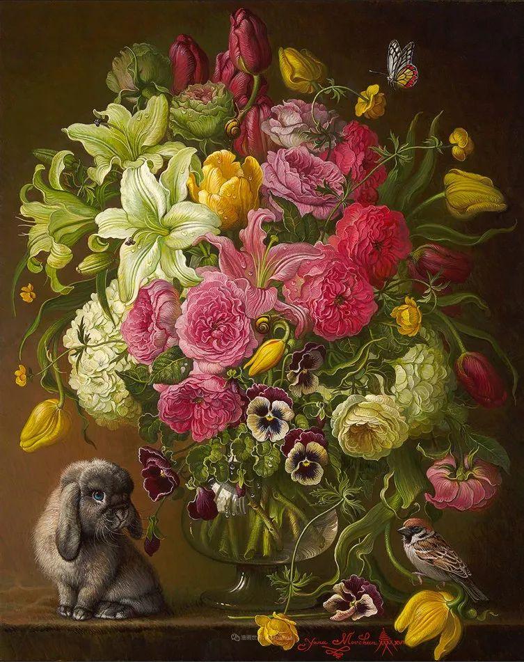 新现实主义风格花鸟画,乌克兰女画家Yana Movchan (上)插图93