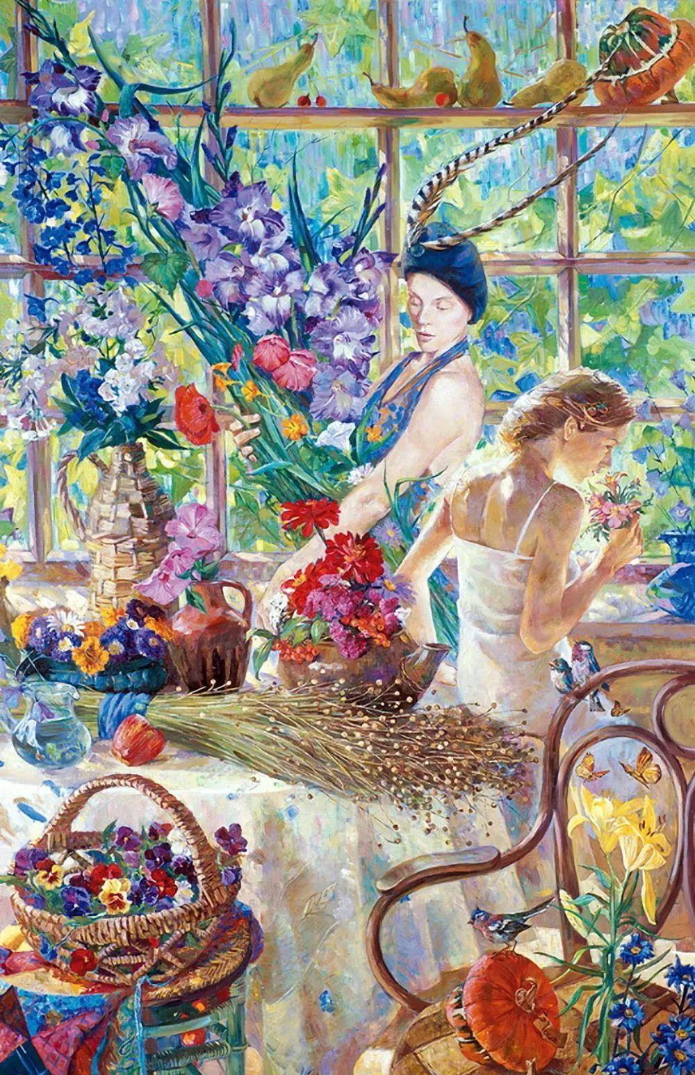 细致瑰丽的画风,俄罗斯女画家纳塔利娅·图尔插图