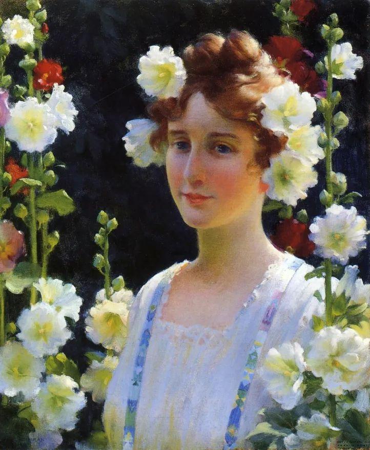 查尔斯·柯兰笔下的女人花,清香娇美!插图1