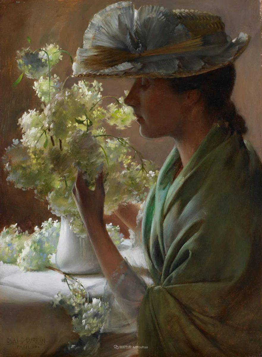 查尔斯·柯兰笔下的女人花,清香娇美!插图39