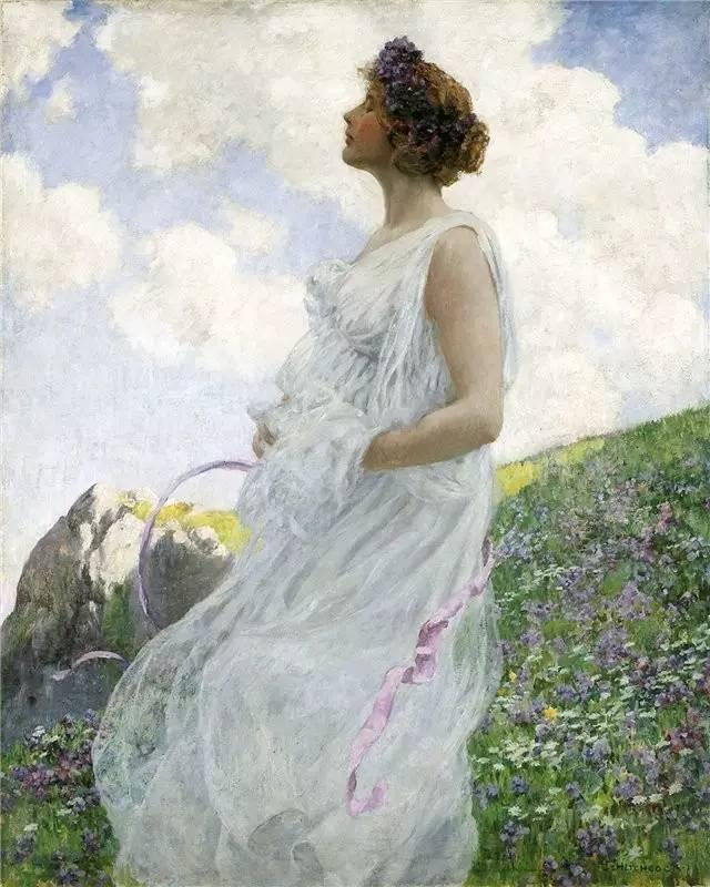 查尔斯·柯兰笔下的女人花,清香娇美!插图45
