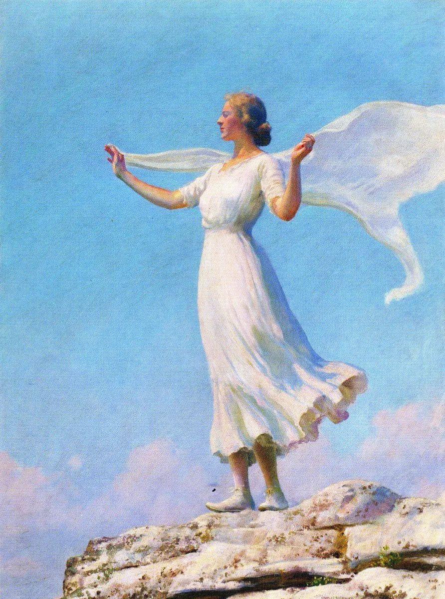 查尔斯·柯兰笔下的女人花,清香娇美!插图47