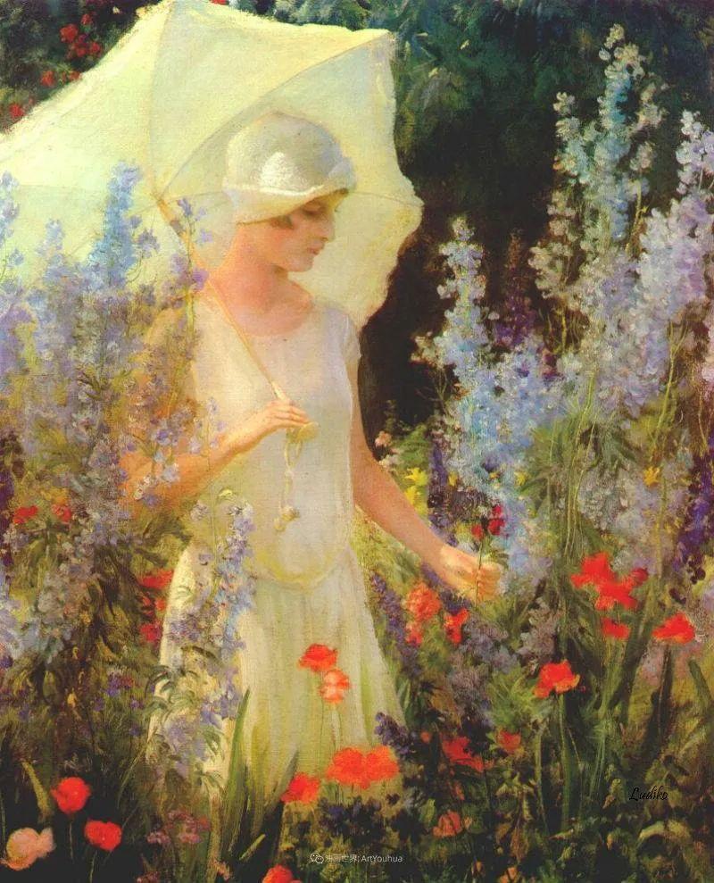 查尔斯·柯兰笔下的女人花,清香娇美!插图55