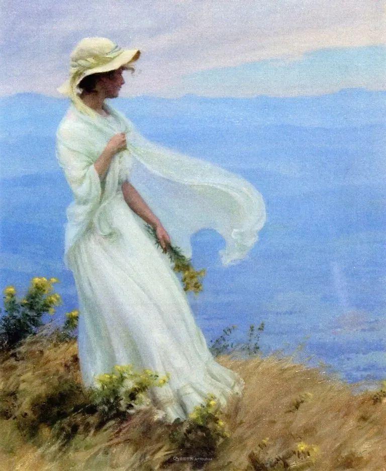 查尔斯·柯兰笔下的女人花,清香娇美!插图117
