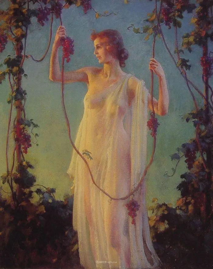 查尔斯·柯兰笔下的女人花,清香娇美!插图125