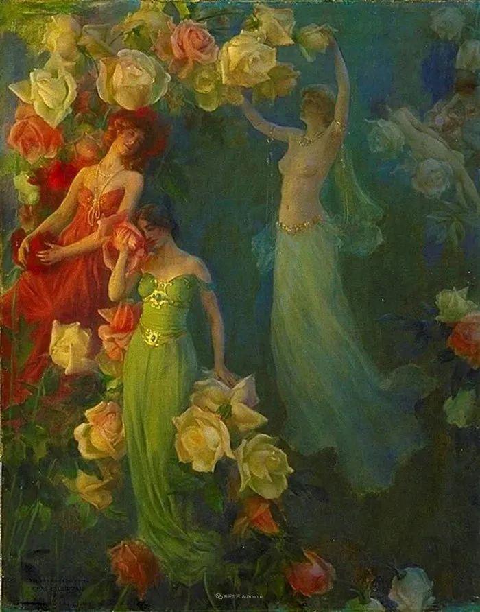 查尔斯·柯兰笔下的女人花,清香娇美!插图129