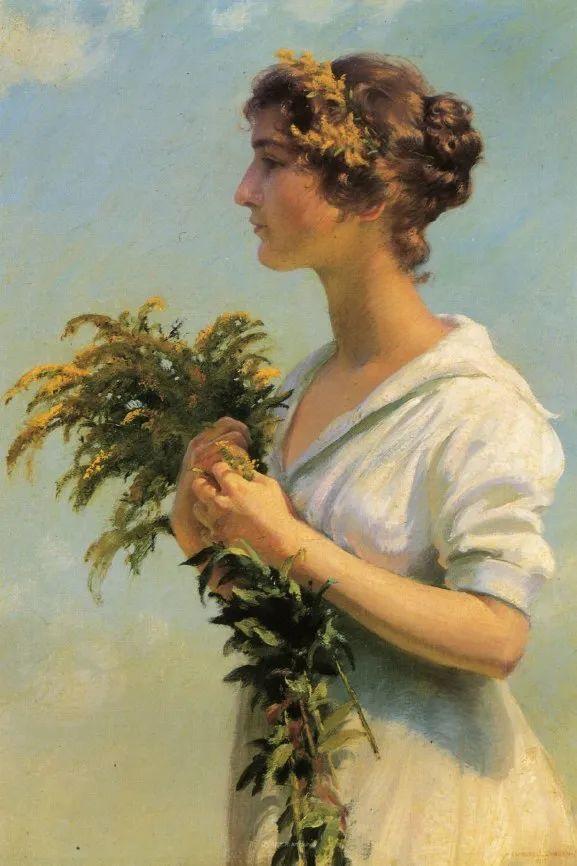 查尔斯·柯兰笔下的女人花,清香娇美!插图139