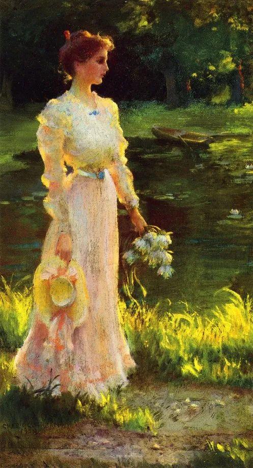 查尔斯·柯兰笔下的女人花,清香娇美!插图141