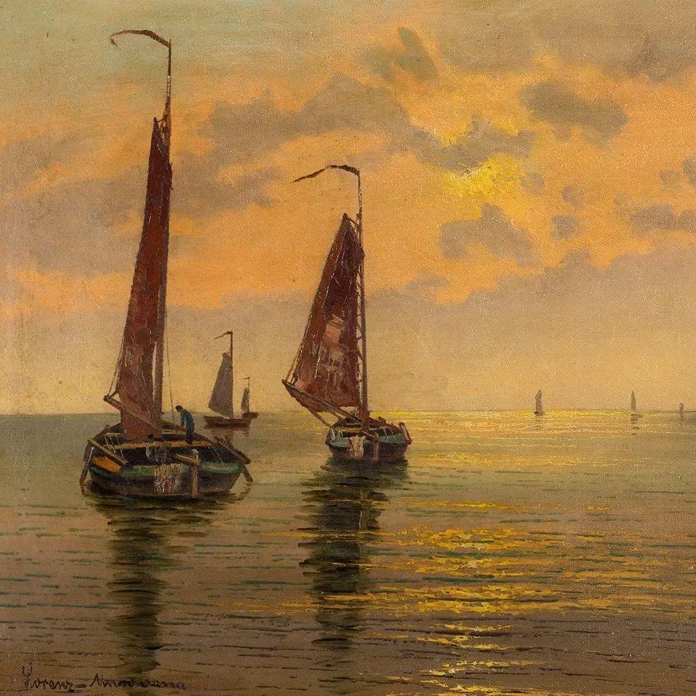 海景里的光,德国画家恩斯特·莫洛瓦纳插图1