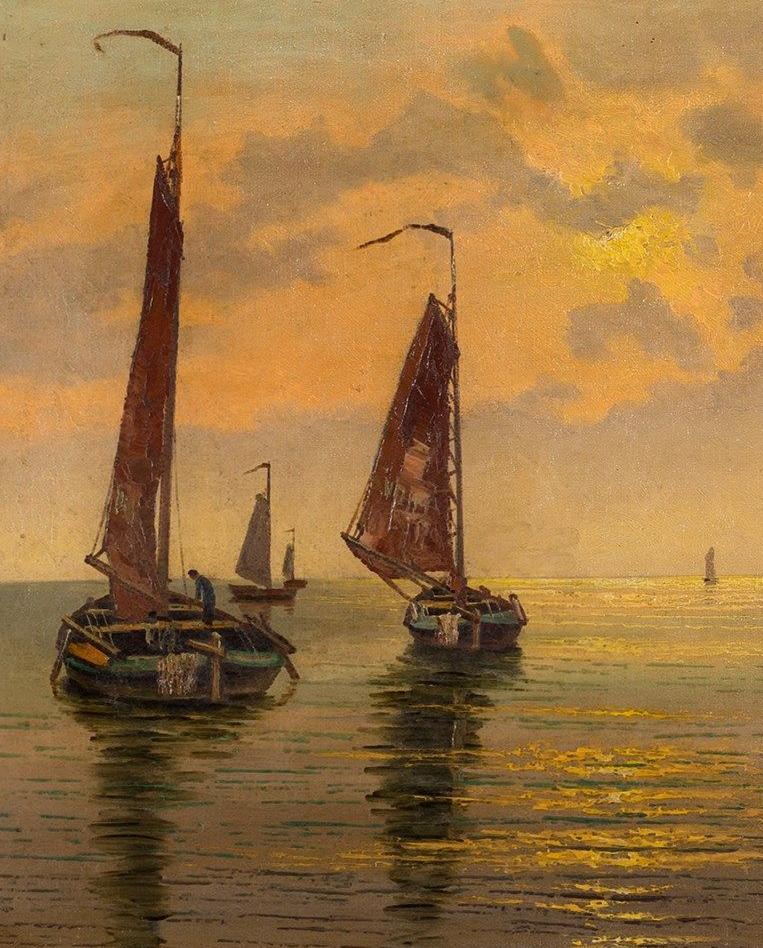 海景里的光,德国画家恩斯特·莫洛瓦纳插图2