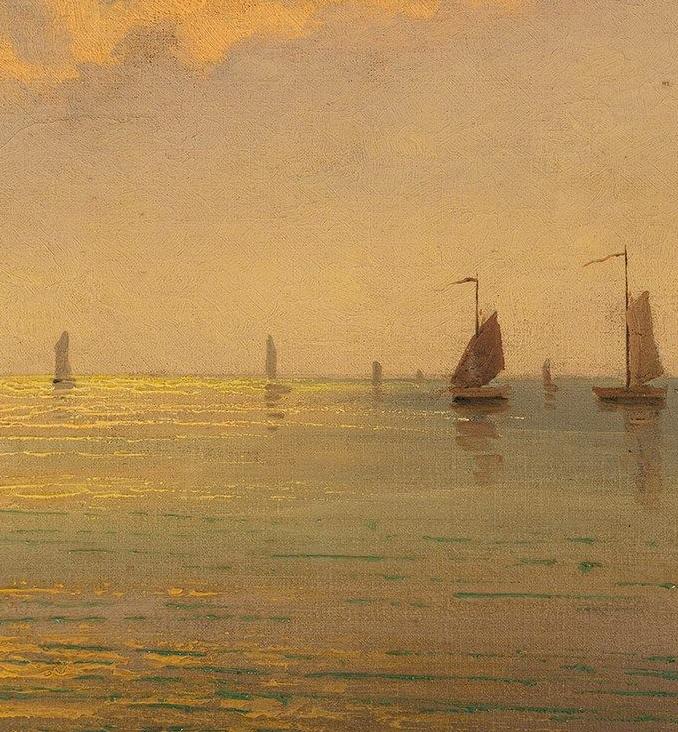 海景里的光,德国画家恩斯特·莫洛瓦纳插图4