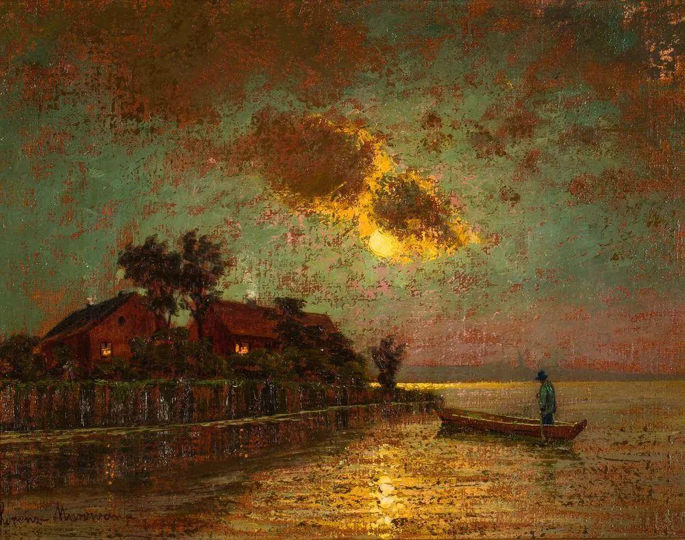 海景里的光,德国画家恩斯特·莫洛瓦纳插图5