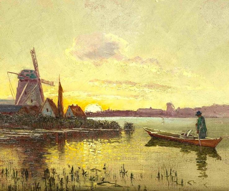 海景里的光,德国画家恩斯特·莫洛瓦纳插图8