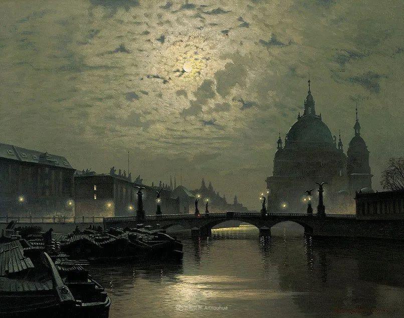 海景里的光,德国画家恩斯特·莫洛瓦纳插图10